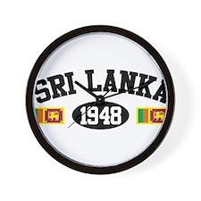 Sri Lanka 1948 Wall Clock
