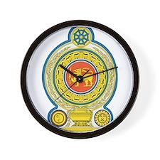 Sri Lanka Coat Of Arms Wall Clock