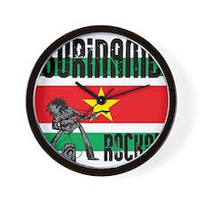 Suriname Rocks Wall Clock
