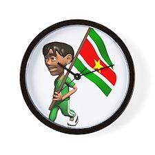 3D Suriname Wall Clock