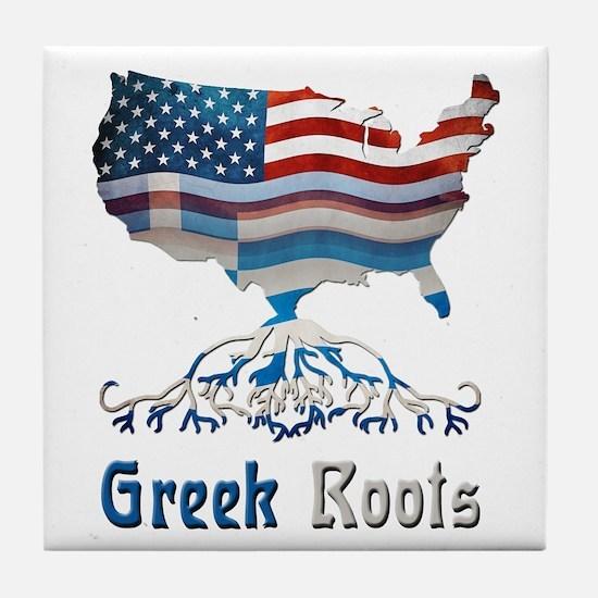 American Greek Roots Tile Coaster