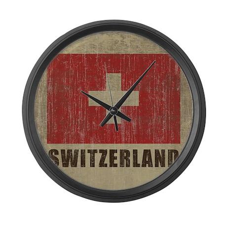 Vintage Switzerland Large Wall Clock By Oneworldgear