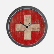 Vintage Switzerland Flag Wall Clock