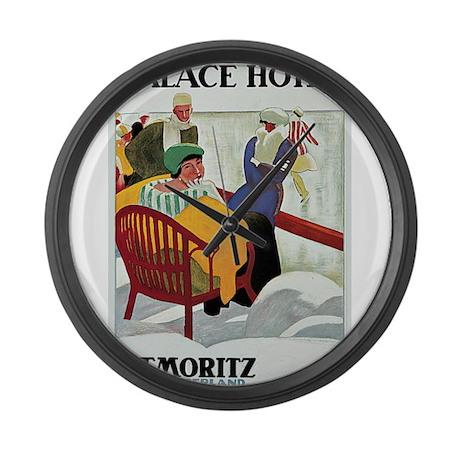 St Moritz Palace Hotel Large Wall Clock