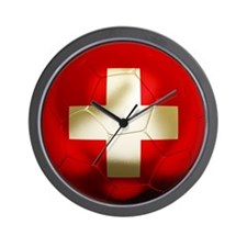 Switzerland Football Wall Clock