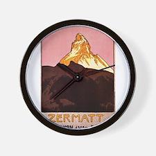 Zermatt Switzerland Wall Clock