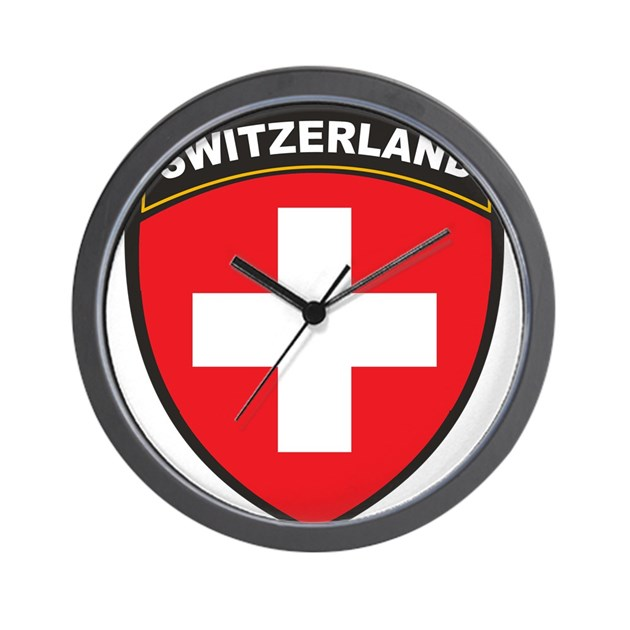 Switzerland Wall Clock By Oneworldgear