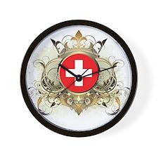 Stylish Switzerland Wall Clock