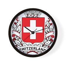 Stylish Switzerland Crest Wall Clock