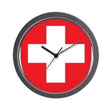 Switzerland Coat Of Arms Wall Clock
