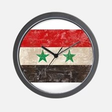 Vintage Syria Flag Wall Clock