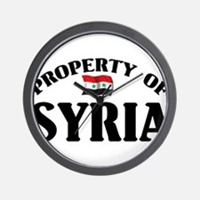 Property Of Syria Wall Clock