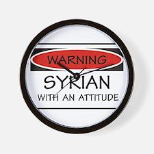 Attitude Syrian Wall Clock
