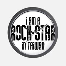 Rock Star In Taiwan Wall Clock