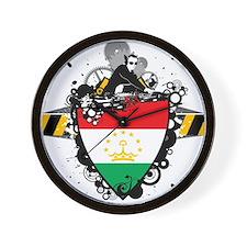Hip Tajikistan Wall Clock
