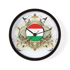 Stylish Tajikistan Wall Clock