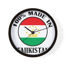 Made In Tajikistan Wall Clock
