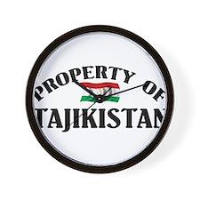 Property Of Tajikistan Wall Clock