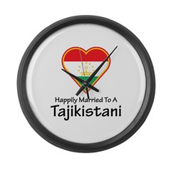 Married To A Tajikistani Large Wall Clock