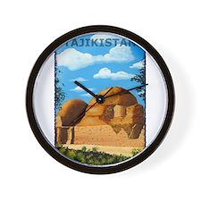 Vintage Tajikistan Art Wall Clock