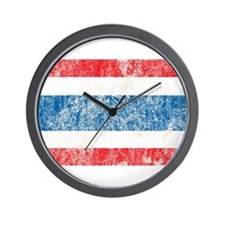 Vintage Thailand Flag Wall Clock