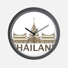 Vintage Thailand Temple Wall Clock
