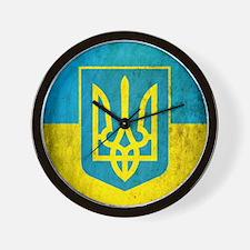 Vintage Ukraine Flag Wall Clock