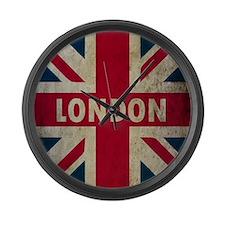Vintage Union Jack Large Wall Clock