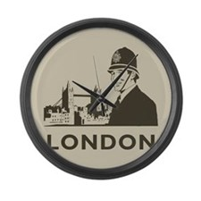 Retro London Large Wall Clock