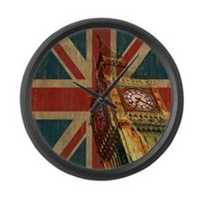 Vintage Union Jack Large Wall Clock