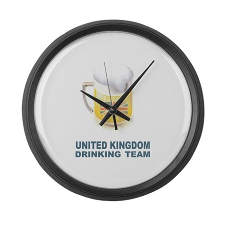 Uk drinking team large wall clock by oneworldgear for Large wall clock uk