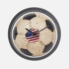 USA Soccer Wall Clock