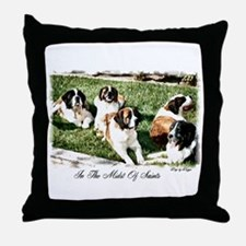 Saint Bernard Throw Pillow