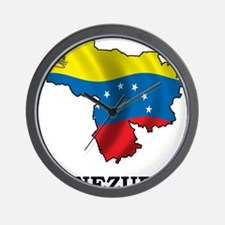Map Of Venezuela Wall Clock