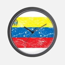 Vintage Venezuela Flag Wall Clock