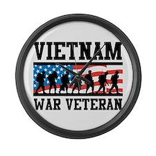 Vietnam War Veteran Large Wall Clock