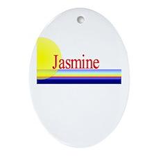 Jasmine Oval Ornament