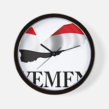 Map Of Yemen Wall Clock