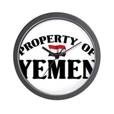 Property Of Yemen Wall Clock