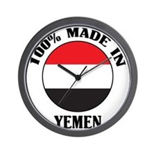 Made In Yemen Wall Clock
