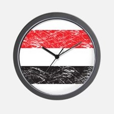 Vintage Yemen Flag Wall Clock