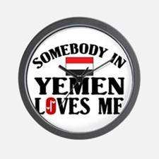 Somebody In Yemen Wall Clock