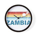 Retro Palm Tree Zambia Wall Clock