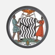 Zambia Coat Of Arms Wall Clock