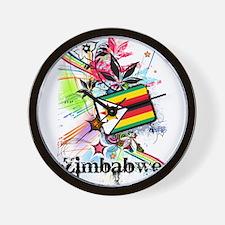 Flower Zimbabwe Wall Clock