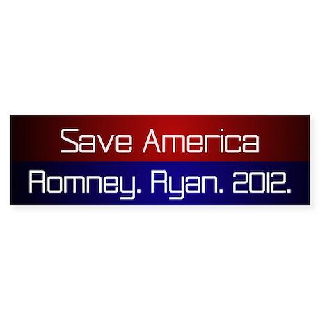 Romney Ryan 2012 Sticker (Bumper)