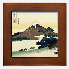 Hokusai Inume Pass Koshu Framed Tile