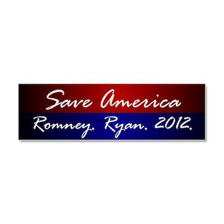 Romney Ryand 2012 Car Magnet 10 x 3