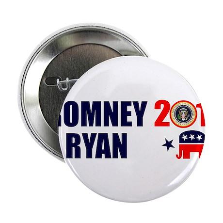 """ROMNEY RYAN 2012 BUMPER STICKER 2.25"""" Button (10 p"""