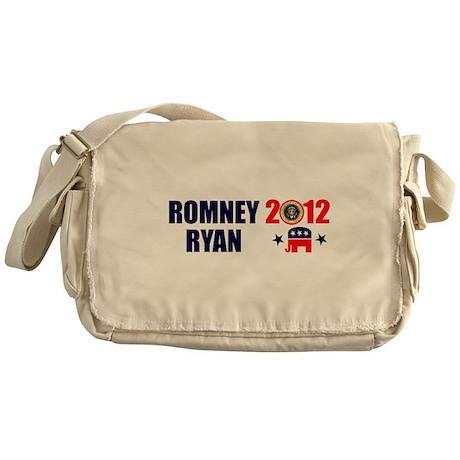 ROMNEY RYAN 2012 BUMPER STICKER Messenger Bag